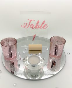clear table number signs for wedding