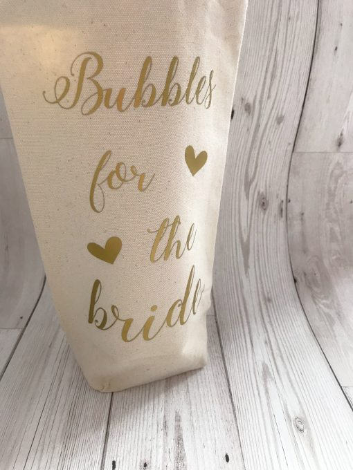 personalised bottle bag for bride