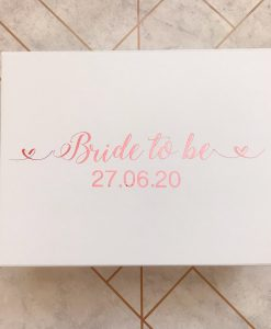 personalised bridal box