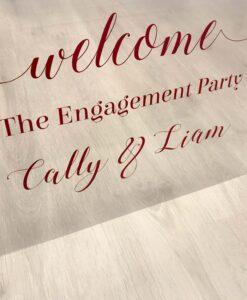 clear acrylic wedding sign
