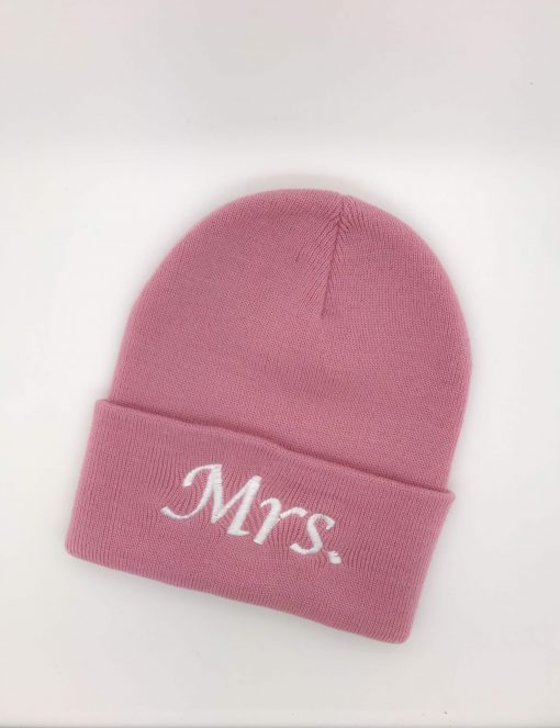 personalise mrs beanie hat