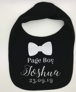page boy personalised bib bow tie