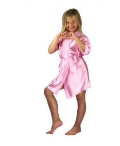 childrens personalised satin robe