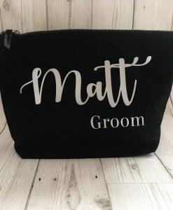 personalised groom wash bag