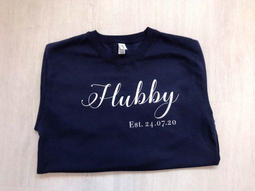 hubby sweatshirt with wedding date