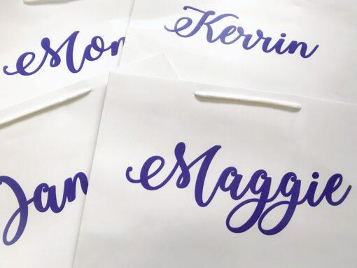 personalised name gift bag