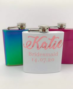 personalised hip flask for bridesmaids