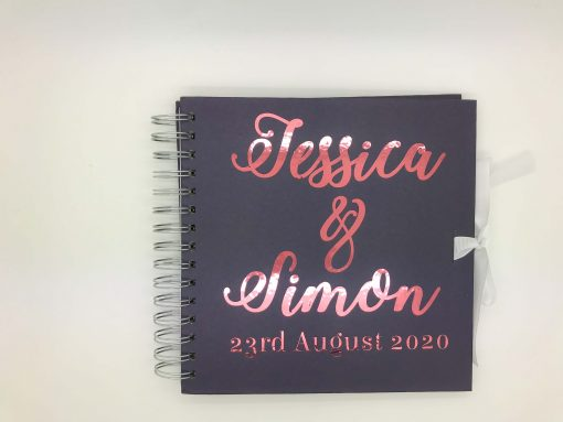 wedding guest book personalised
