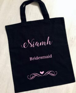 wedding role canvas bag