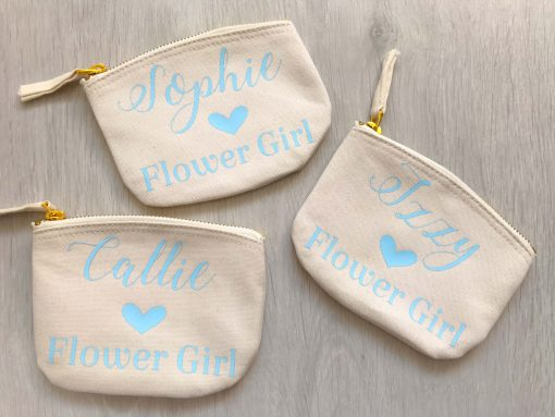 personalised flower girl purse