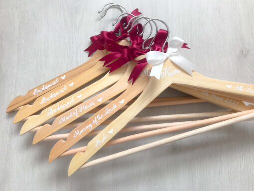 wooden hanger for bridal party