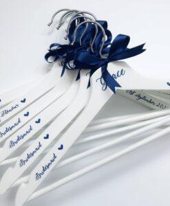 personalised wedding party hangers