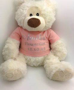 flower girl personalised teddy bear