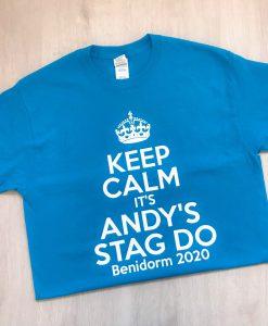 keep calm stag do tshirt