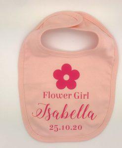 personalised flower girl bib
