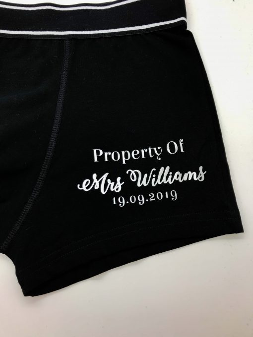 personalised groom boxer shorts