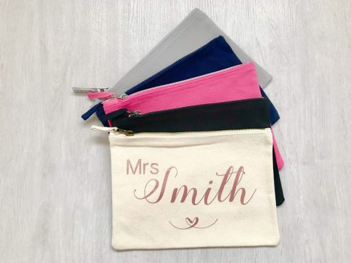 personalised bride makeup bags
