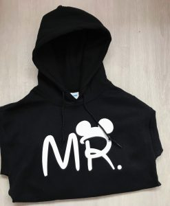 personalised mr hoodie black and white