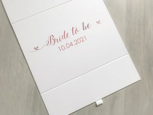 bride to be box with name