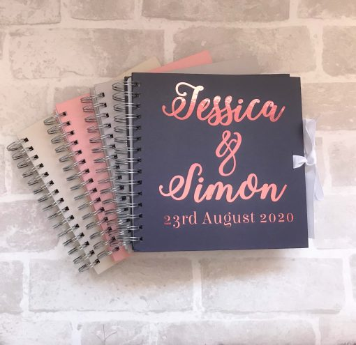 personalised guest book for wedding with date on