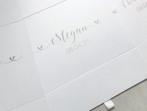 bridesmaid box with name