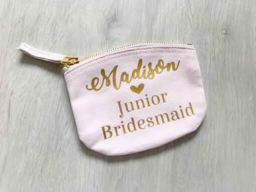 junior bridesmaid bag with name on