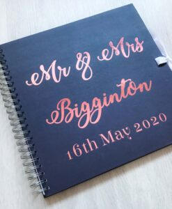 mr and mrs guest book for wedding