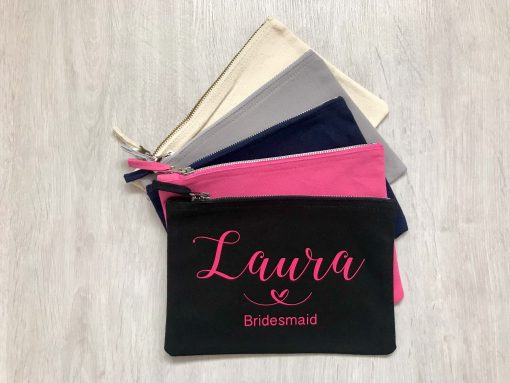 personalised makeup bags for bridal party