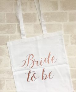 bride to be canvas bag
