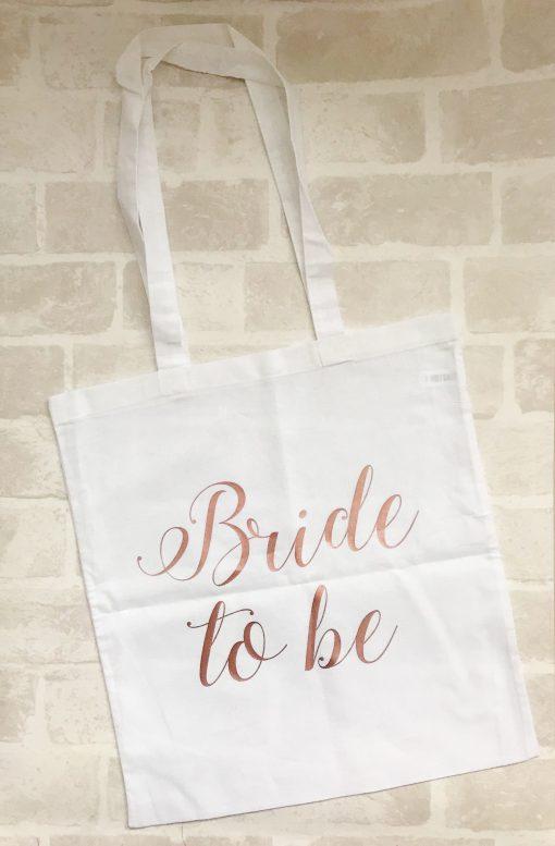 bride to be canvas bag