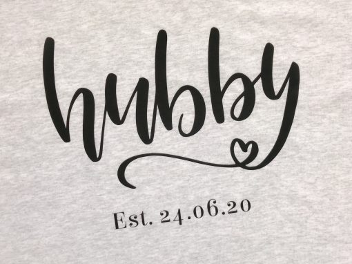 hubby tshirt grey