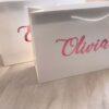 personalised name gloss gift bag