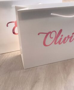 personalised name gloss gift bag