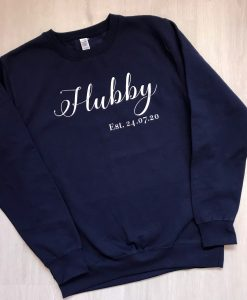 personalised hubby jumper