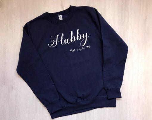 personalised hubby jumper