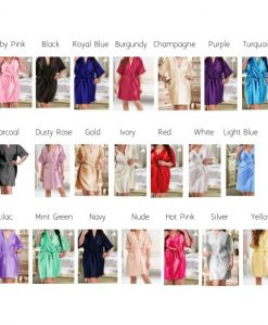 range of satin lace robes