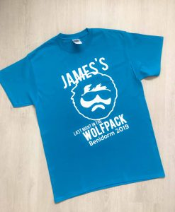 wolf pack stag do t-shirt