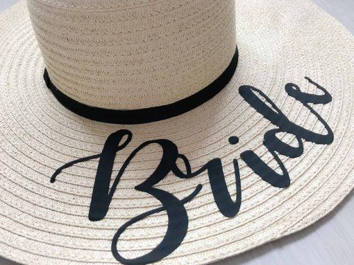 bride sun hat for hen do