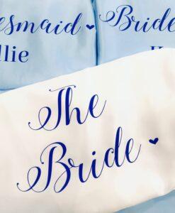 personalised bride robes