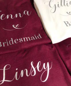 personalised bride hoodie