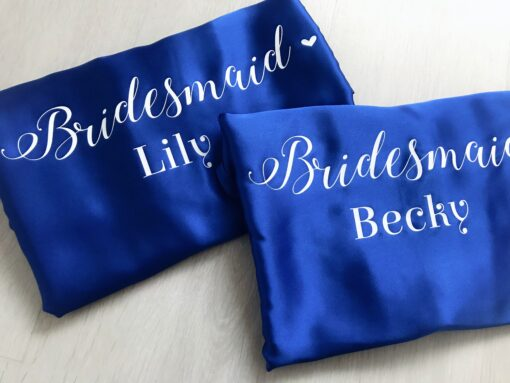 personalised wedding role robe