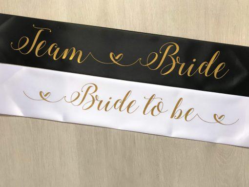 team bride hen party sash