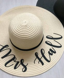 mrs personalised sun hat
