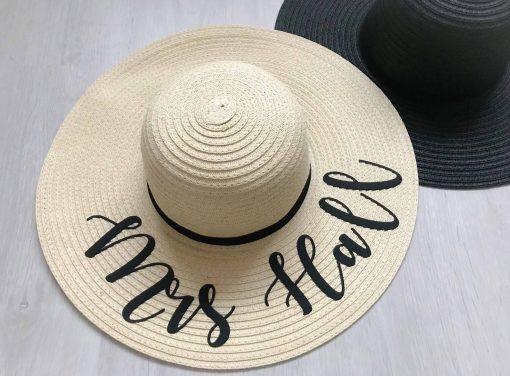 mrs personalised sun hat