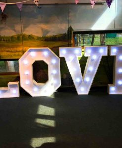 letters that say love for wedding day