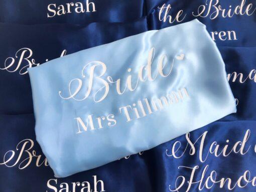 personalised wedding role robe
