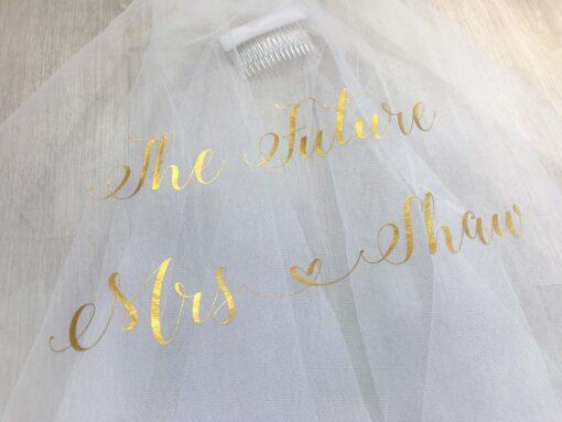 future mrs white veil