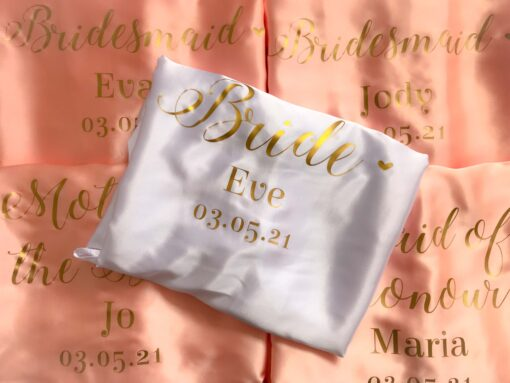 personalised wedding role satin robe