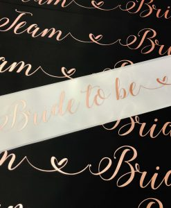 bride to be sash for hen party