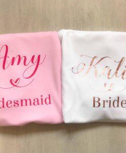 personalised bridal party hoodies